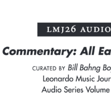 Leonardo Music Journal – LEND ME YOUR EARS! SOUND AND RECEPTION – audio submission — Jen Reimer & Max Stein